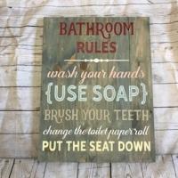 Bathroom Rules, large #96