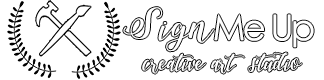 Sign Me Up Art Studio Mobile Logo