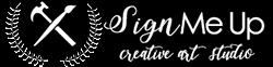 Sign Me Up Art Studio Logo